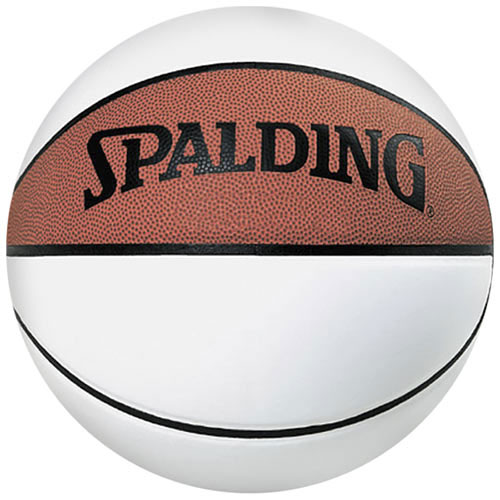 New spalding official size 29 5 three white panel autograph basketball ebay - Spalding basketball images ...