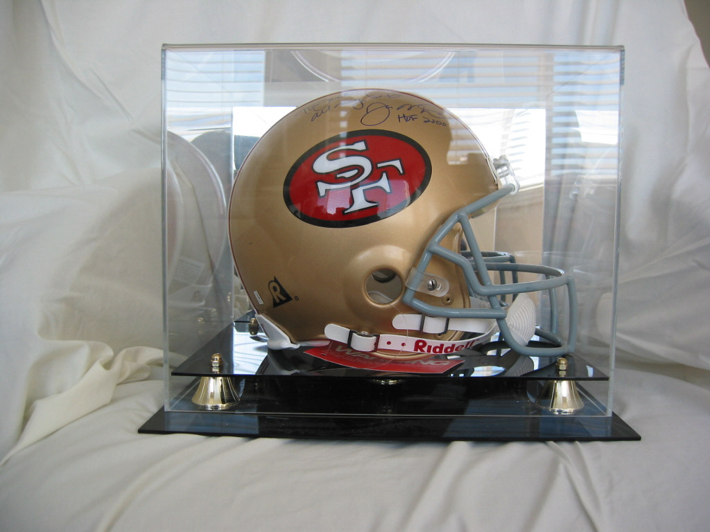 NEW FULL SIZE FOOTBALL HELMET DISPLAY CASE with Mirror | eBay