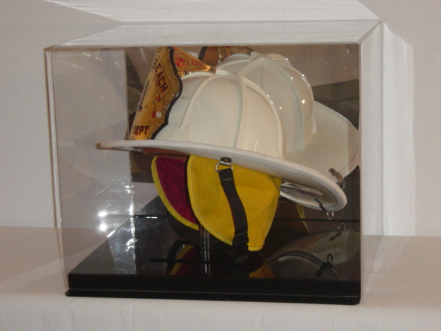 Full Size Firefighter S Fireman S Helmet Display Case Ebay