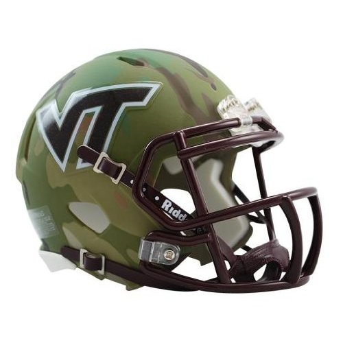 Football Helmet Vinyl Wraps : Virginia tech hokies ncaa special camo revolution speed