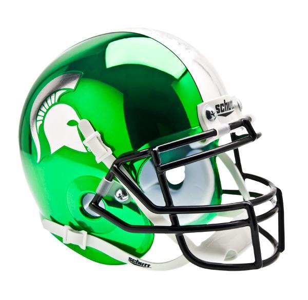 Football Helmet Chrome : Michigan state spartans alternate chrome schutt mini