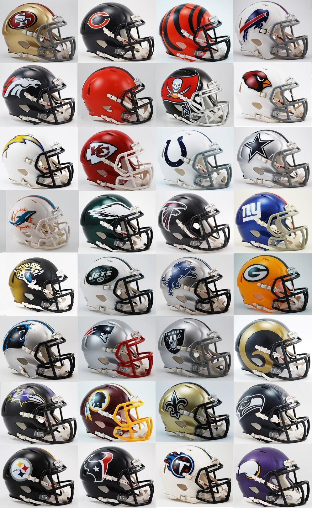 nfl helmets football mini 32 speed teams current riddell complete revolution helmet replica total