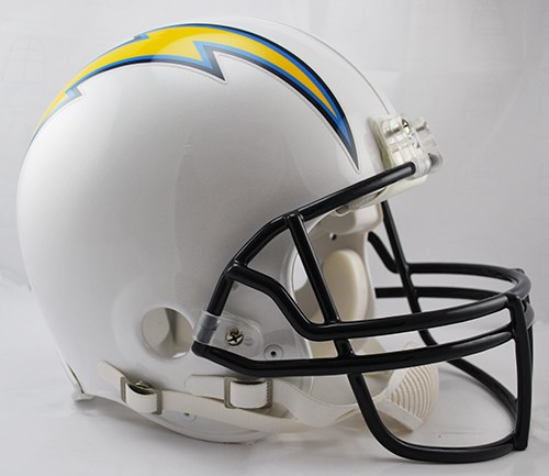 San Diego Chargers Football Helmet: SAN DIEGO CHARGERS AUTHENTIC FULL SIZE FOOTBALL HELMET