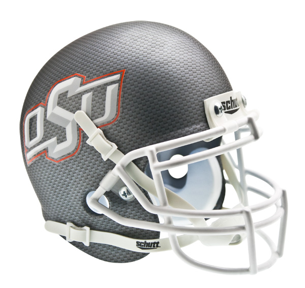 College Mini Helmets Oklahoma State Cowboys Schutt White Star Mini Football Helmet