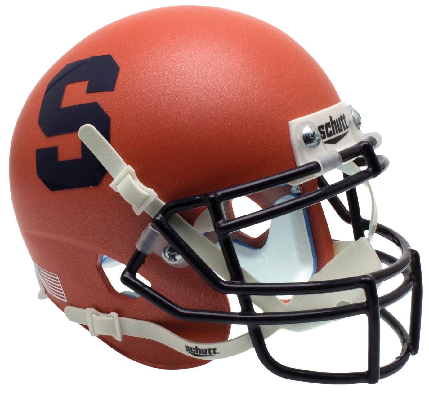 Syracuse Orange NCAA College Football Team Logo Schutt Authentic Mini Helmet