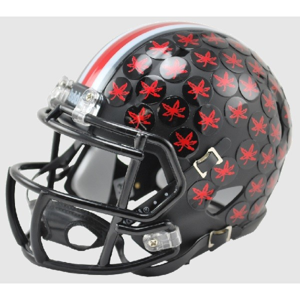 New Ohio State Buckeyes Special Black Speed Riddell Mini Football